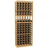 6 Column Display Wood Wine Rack