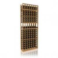 7' Seven Column Display Wood Wine Rack