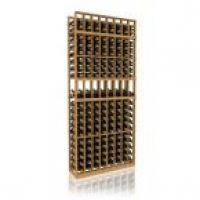 7' Eight Column Display Wood Wine Rack