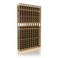 7' Ten Column Display Wood Wine Rack