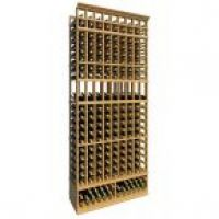 8' Ten Column Display Wood Wine Rack