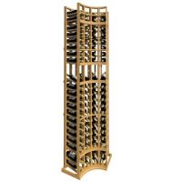 8' Curved Corner Display Wood Wine Rack
