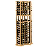 Curved Corner Display Wood Wine Rack