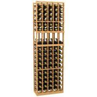 5 Column Display Wood Wine Rack