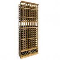 8' Eight Column Display Wood Wine Rack