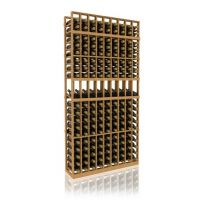 7' Nine Column Display Wood Wine Rack