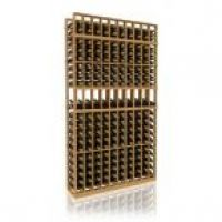 7' Ten Column Display Wood Wine Rack