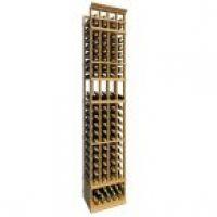 8' Four Column Display Wood Wine Rack