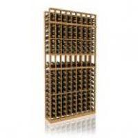 7' Nine Column Display Wood Wine Rack