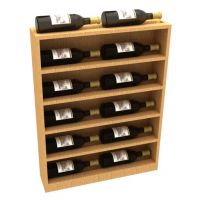 Vertical End Display For Waterfall Wine Rack