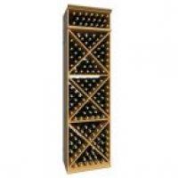 7' Solid X-Cube Wine Rack