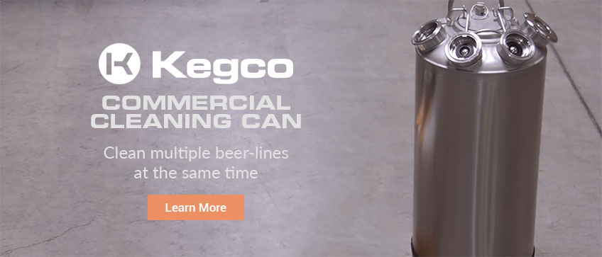 Kegco Commercial Cleaning Can Rotation