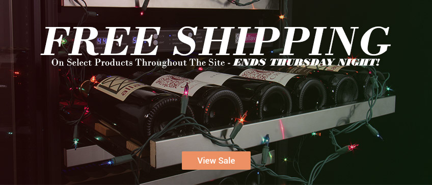 Free Shipping on select products throughout the site