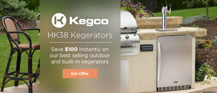Kegco HK38 Series Kegerators - Save $100 Instantly for a Limited Time