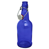 Inventory Reduction - EZ Cap 500ml Flip-Top Home Brew Beer Bottles - Blue (Case of 12)
