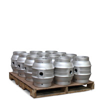 Pallet of 12 Brand New 5.4 Gallon Pin Cask Beer Kegs