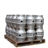 Pallet of 24 Brand New 5.4 Gallon Pin Cask Beer Kegs
