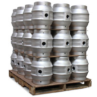 Pallet of 36 Brand New 5.4 Gallon Pin Cask Beer Kegs