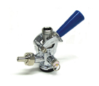 CH5004SS - D System Keg Coupler Blue Handle with Stainless Steel Probe
