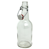 EZ Cap 500ml Flip-Top Home Brew Beer Bottles - Clear (Case of 12)