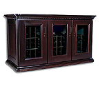 Le Cache European Country Euro Credenza 180-Bottle Wine Cellar - Chocolate Cherry Finish