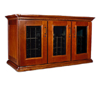 Le Cache European Country Euro Credenza 180-Bottle Wine Cellar - Provincial Cherry Finish