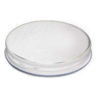 33mm White Metal Screw Cap - Set of 100