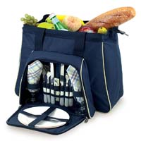 Toluca Insulated Cooler with Service for 2 - Navy