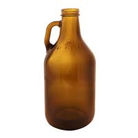 64 oz. Amber Glass Beer Growler
