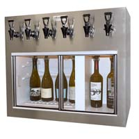 Monterey 6 Bottle Wine Dispenser Preservation Unit - Brushed #4 Stainless Steel