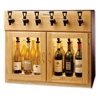 Napa 6 Bottle 3 Red 3 White Wine Dispenser Preservation Unit - Oak