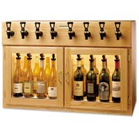 Sonoma 8 Bottle Wine Dispenser Preservation Unit - Oak