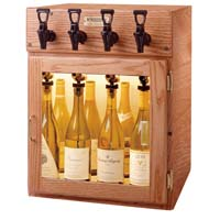 Sonoma 4 Bottle Wine Dispenser Preservation Unit - Oak