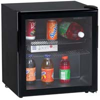 1.9 Cu. Ft. Beverage Cooler - Black Cabinet and Black Framed Glass Door