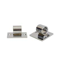 Angled Mounting Plate Pair - Chrome Finish