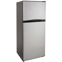 9.9 Cu. Ft. Frost Free Two Door Apartment Refrigerator - Black Cabinet and Stainless Steel Doors