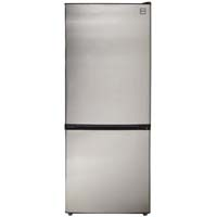 10.2 Cu. Ft. Two Door Frost Free Refrigerator - Black Cabinet and Stainless Steel Door