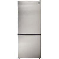 10.2 Cu. Ft. Two Door Frost Free Refrigerator - Black Cabinet and Stainless Steel Door