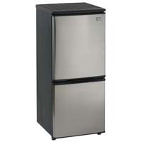 4.5 Cu. Ft. Two Door Frost Free Refrigerator - Black Cabinet and Stainless Steel Door