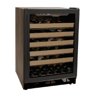 Scratch and Dent - Haier HVCE24DBH 50 Bottle Black Built-in Wine Refrigerator