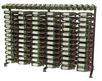 234 Bottle Island Display Extension Wine Rack - Satin Black Finish