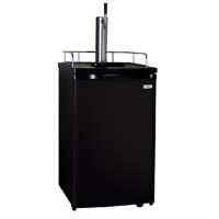 Scratch & Dent  - Kegco K199B-1 Full-Size Keg Beer Dispenser with Black Cabinet and Black Door