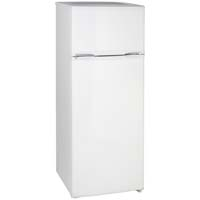 7.4 Cu. Ft. Two Door Apartment Refrigerator - White Cabinet and White Doors