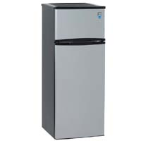 7.4 Cu. Ft. Two Door Apartment Refrigerator - Black Cabinet and Platinum Doors