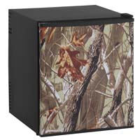 1.7 Cu. Ft. Compact SUPERCONDUCTOR Refrigerator - Black Cabinet and Camouflage Door