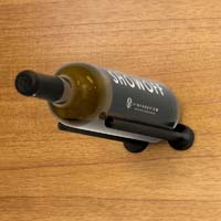 Vino Rails for Wood Surfaces (with Collars) - Anodized Black