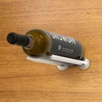 Vino Rails for Wood Surfaces (with Collars) - Milled Aluminum