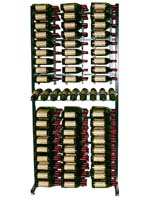 288 Bottle Island Display Extension Wine Rack - Satin Black Finish