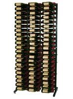 378 Bottle Island Display Wine Rack - Satin Black Finish