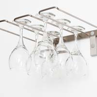 Stemware Rack - Brushed Nickel Finish